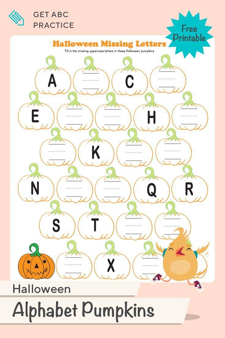 Halloween Alphabet | Worksheet | Education In 2020