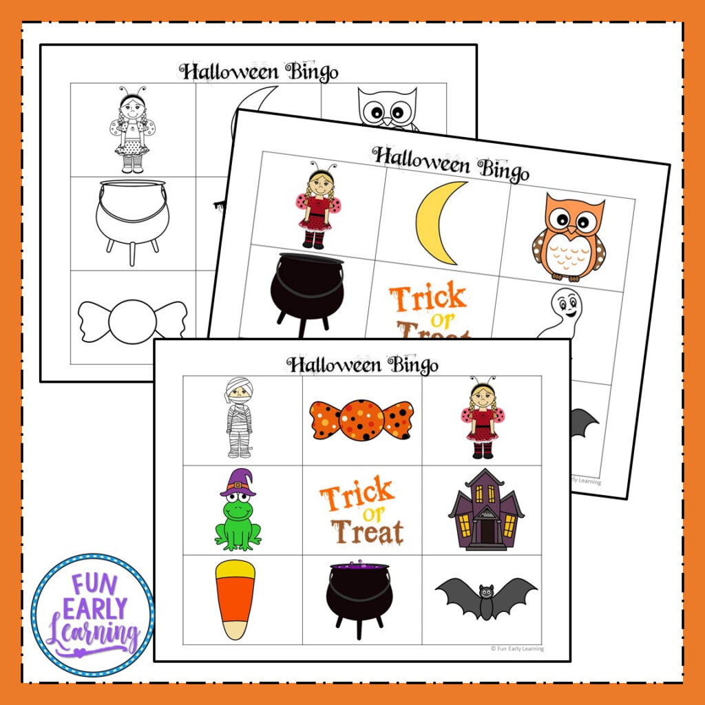 Halloween Bingo Free Printable For Preschool And Kindergarten