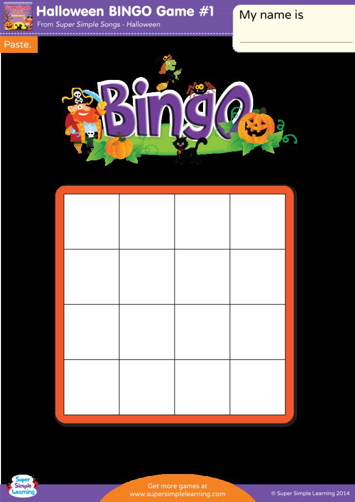 Halloween Bingo Game #1   Super Simple