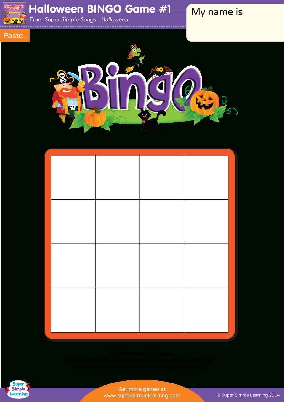 Halloween Bingo Game #1 - Super Simple