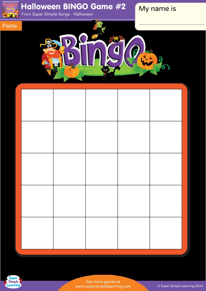 Halloween Bingo Game #2   Super Simple