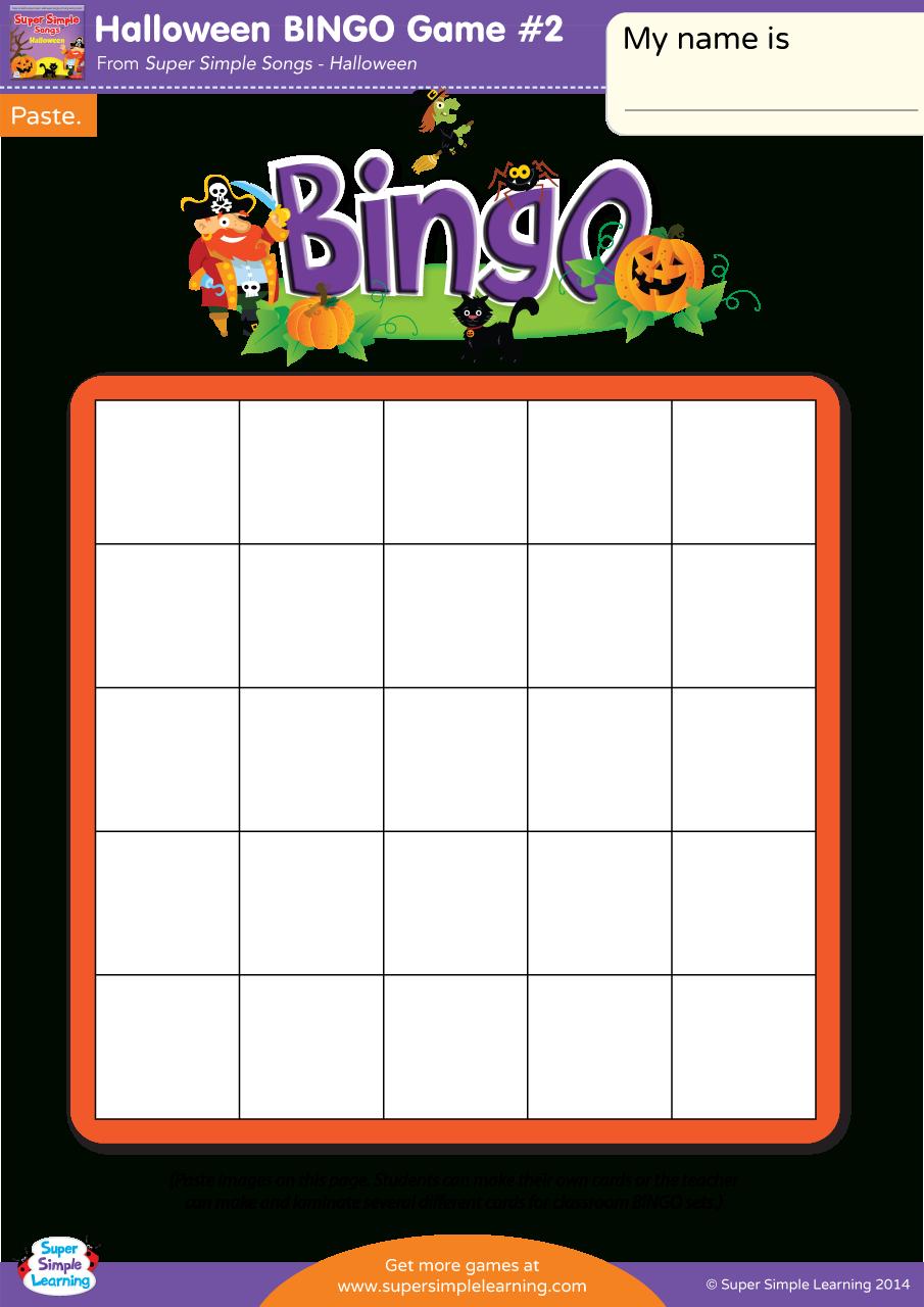 Halloween Bingo Game #2 - Super Simple