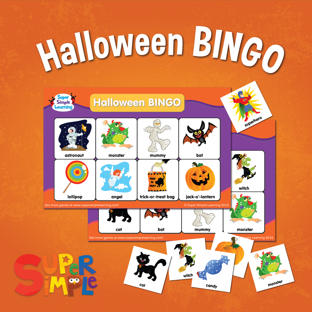 Halloween Bingo Game From Super Simple Learning