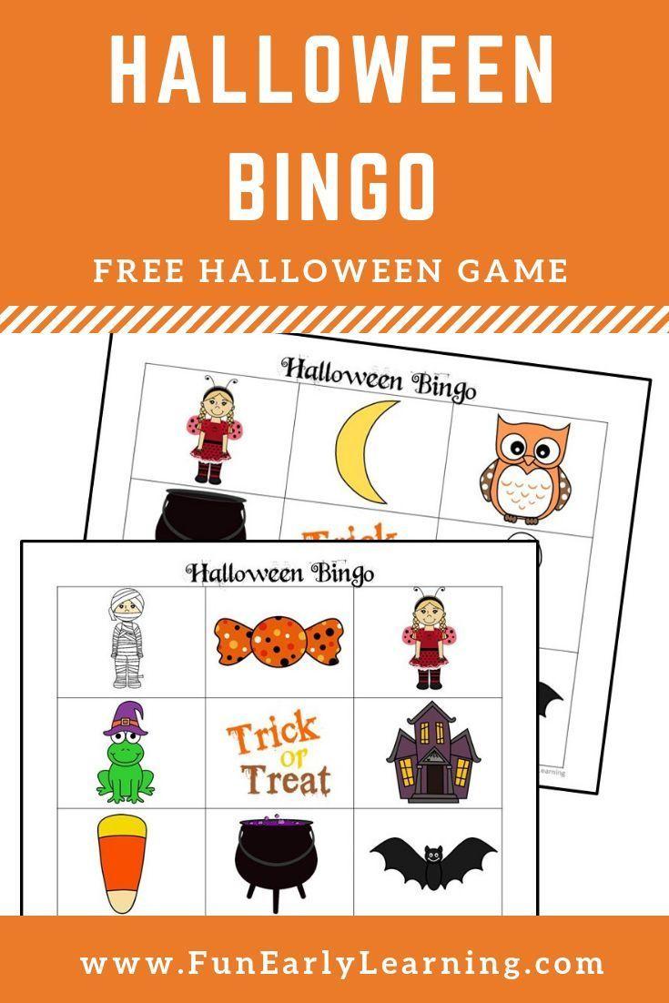 Halloween Bingo | Halloween Bingo, Halloween Preschool, Fun
