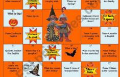 Halloween Games Worksheet