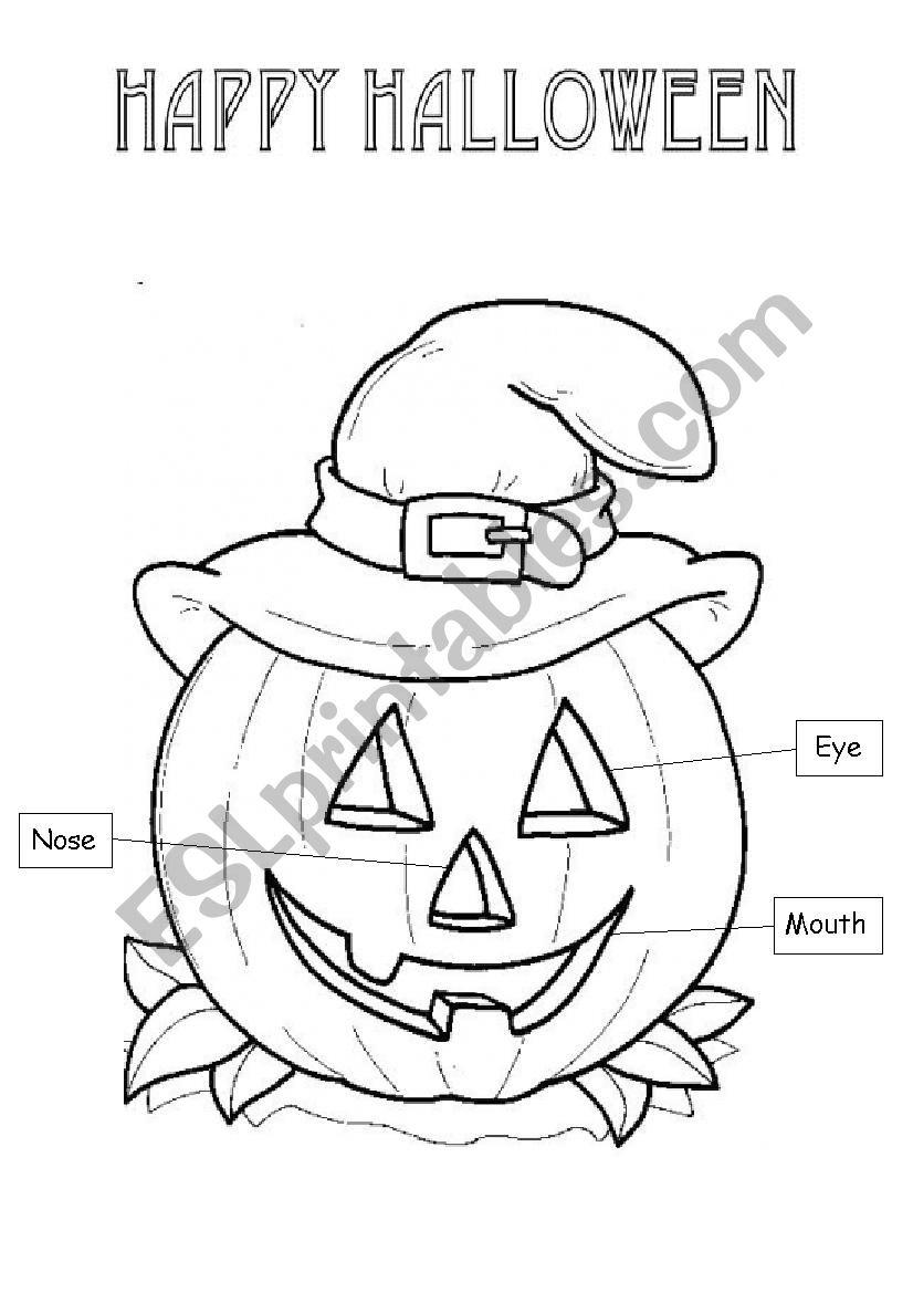 Halloween Body Parts - Esl Worksheetabcschool