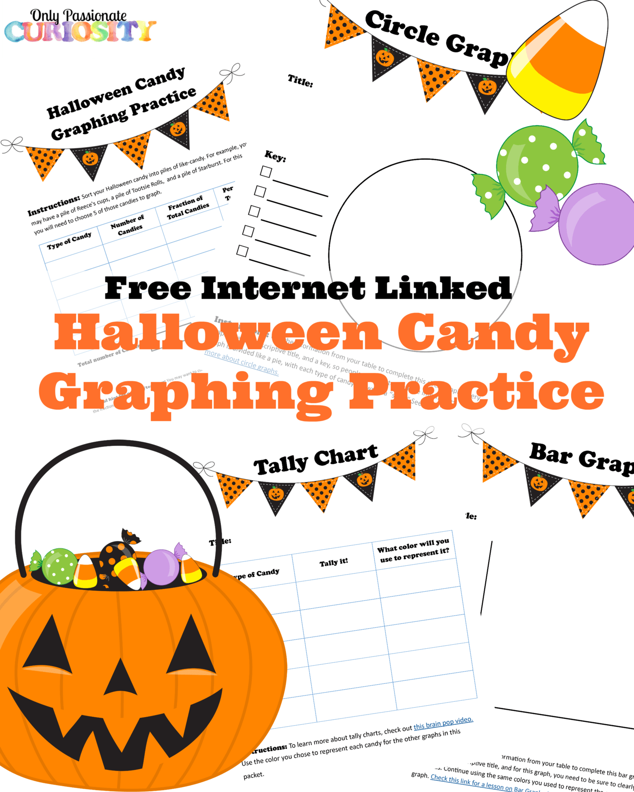 Halloween Candy Graphing Practice {Free Printable} - Only