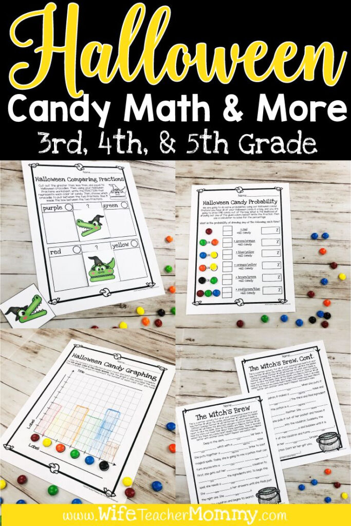 Halloween Candy Math Activities & More For 3Rd, 4Th, 5Th