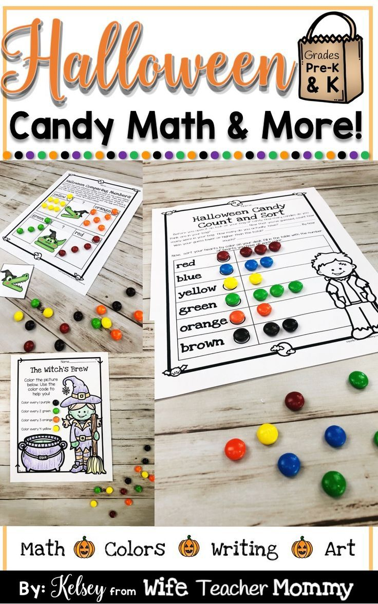 Halloween Candy Math For Kindergarten And Preschool! These