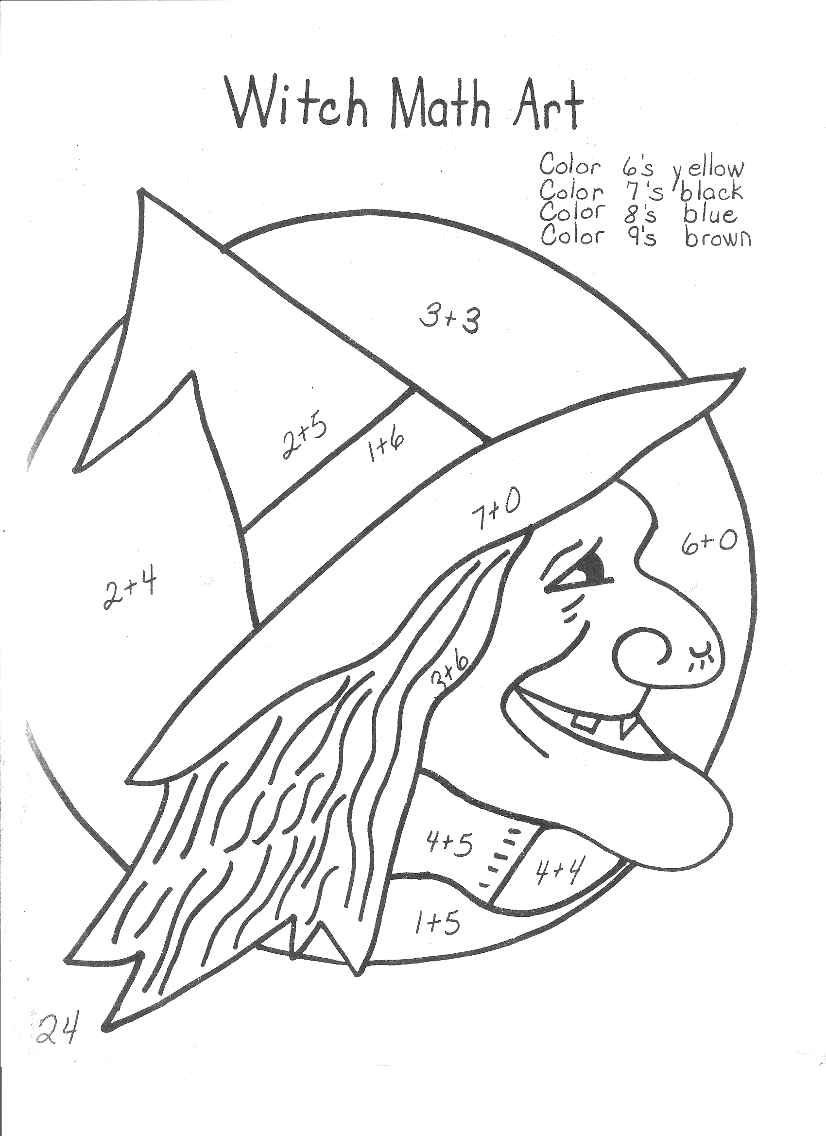 Halloween Coloring First Grade Math Worksheets Free For