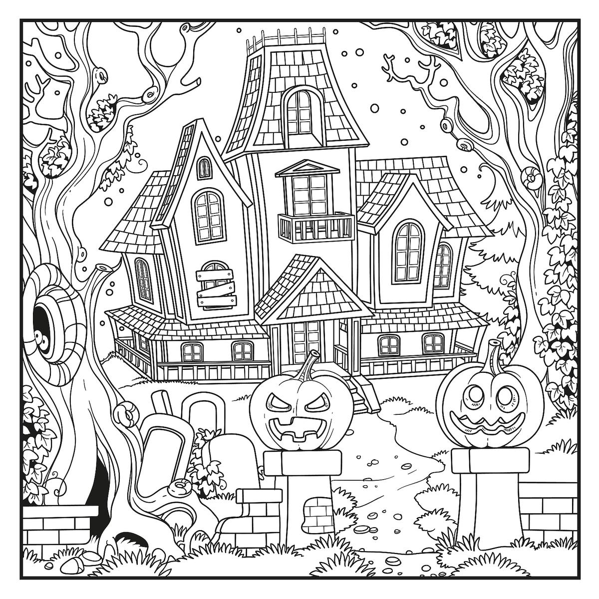 Halloween Coloring Free Spooky Printable Activities For Act