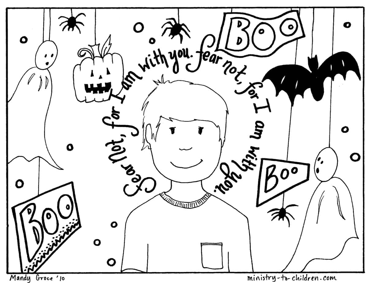 Halloween Coloring Pages Boy Free Preschool Sheets For