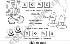 Halloween Coloring Poem – Esl Worksheets.moravkova