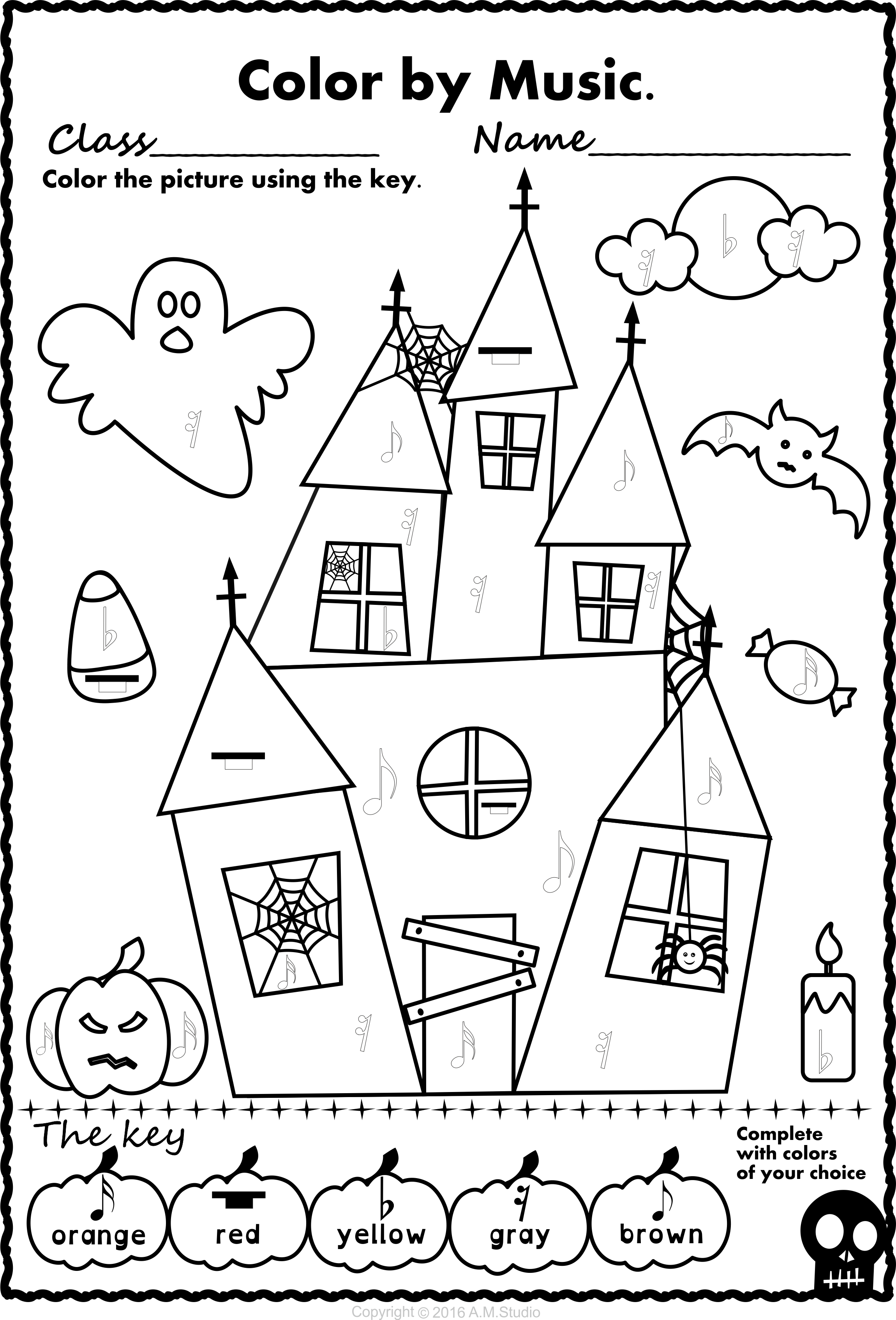 Halloween Colormusic Pack | Halloween Coloring Pages