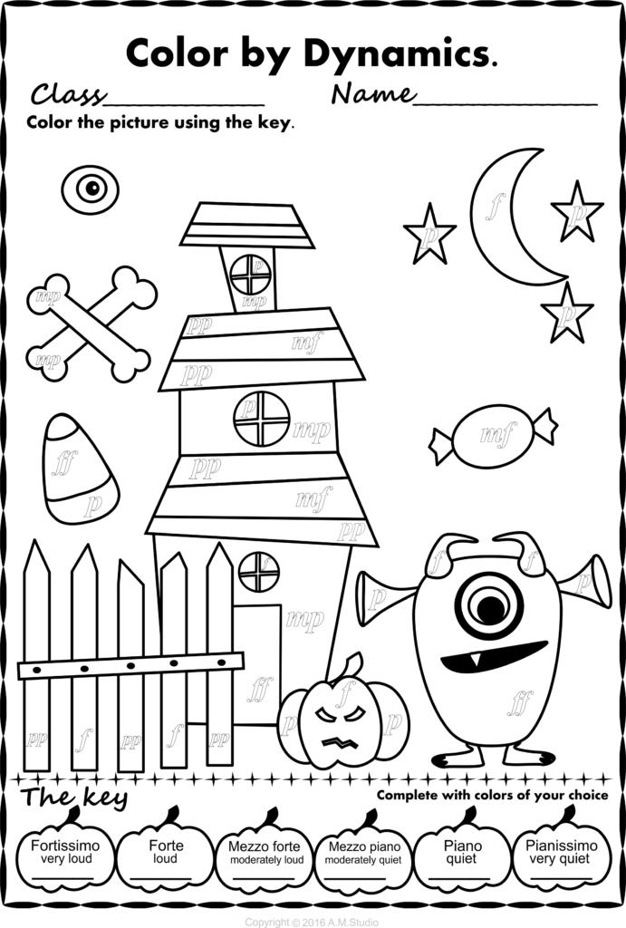 Halloween Colormusic Pack | Halloween Music Activities