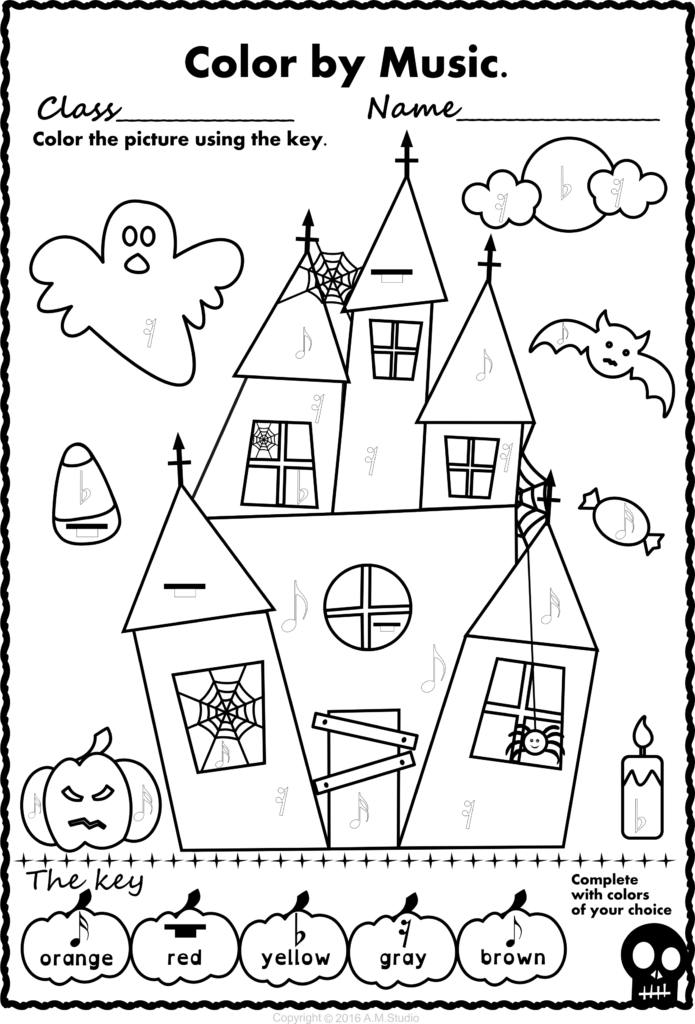 Halloween Colormusic Pack | Music Activities For Kids