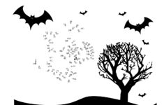 Easy Halloween Dot To Dot Worksheets