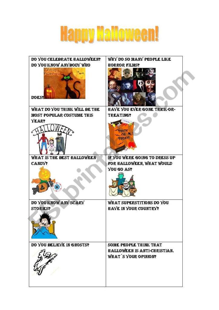 Halloween Conversation Questions   Esl Worksheetrtynen
