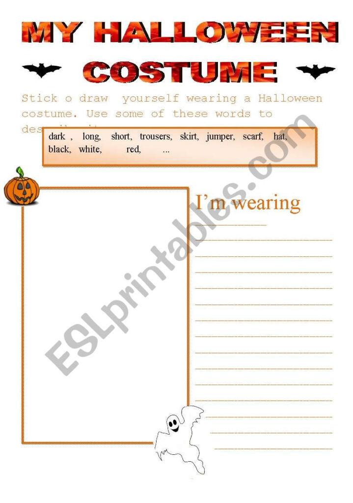 Halloween Costume   Esl Worksheetdity 90