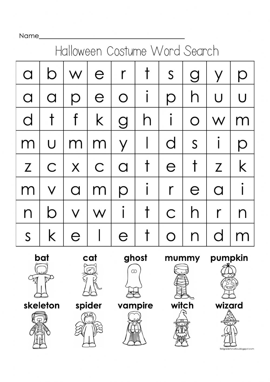 Halloween Costume Interactive Worksheet