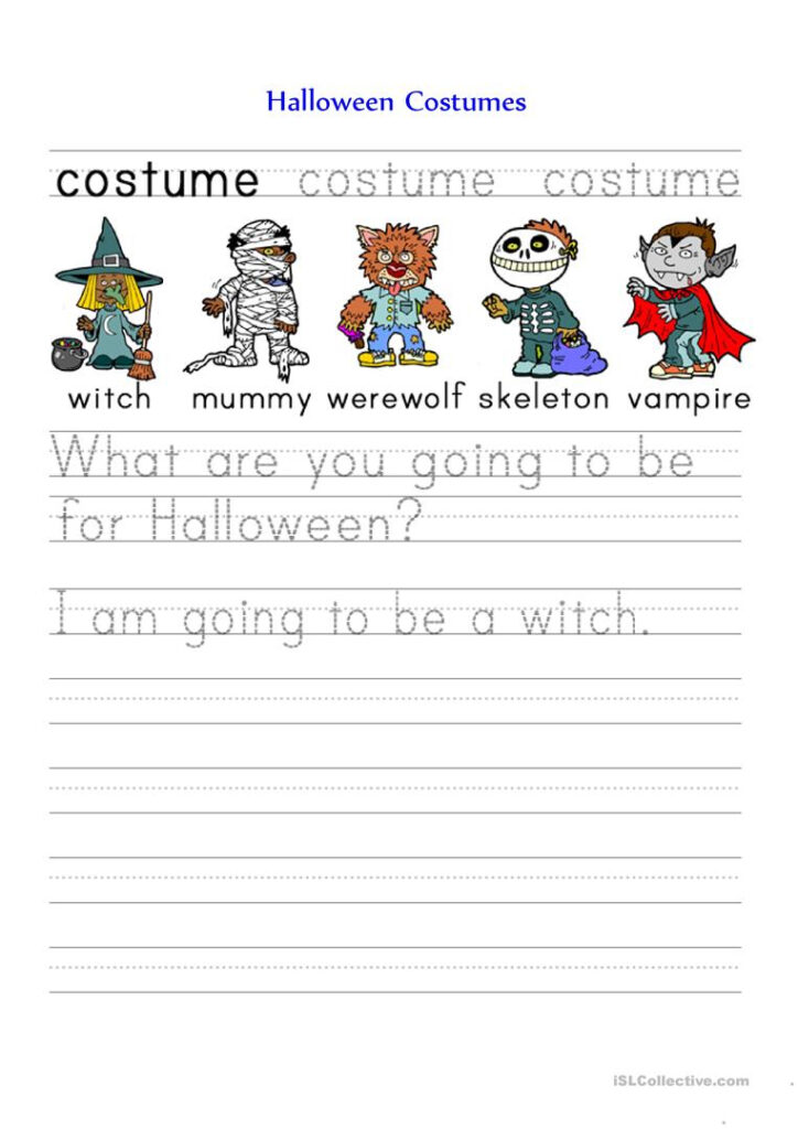 Halloween Costumes   English Esl Worksheets For Distance