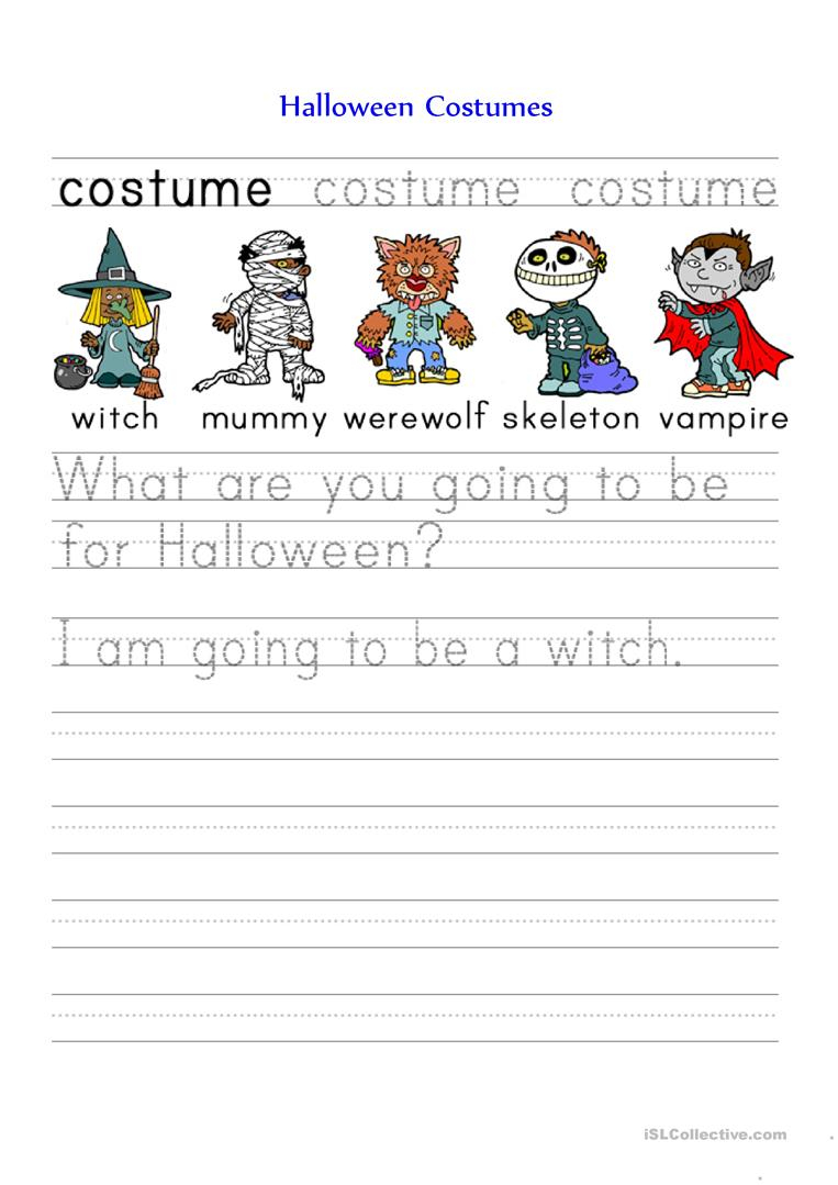 Halloween Costumes - English Esl Worksheets For Distance