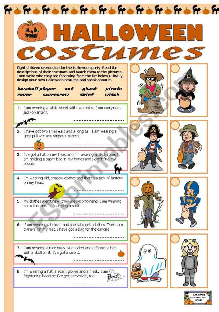 Halloween Costumes   Esl Worksheettecus