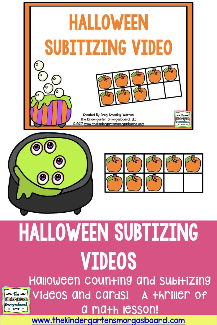 Halloween Counting And Subitizing Freebies!   Halloween