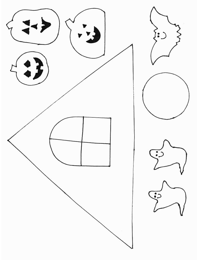 Halloween Crafts - Print Your Haunted House Template At