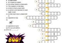 Halloween Crossword – English Esl Worksheets For Distance