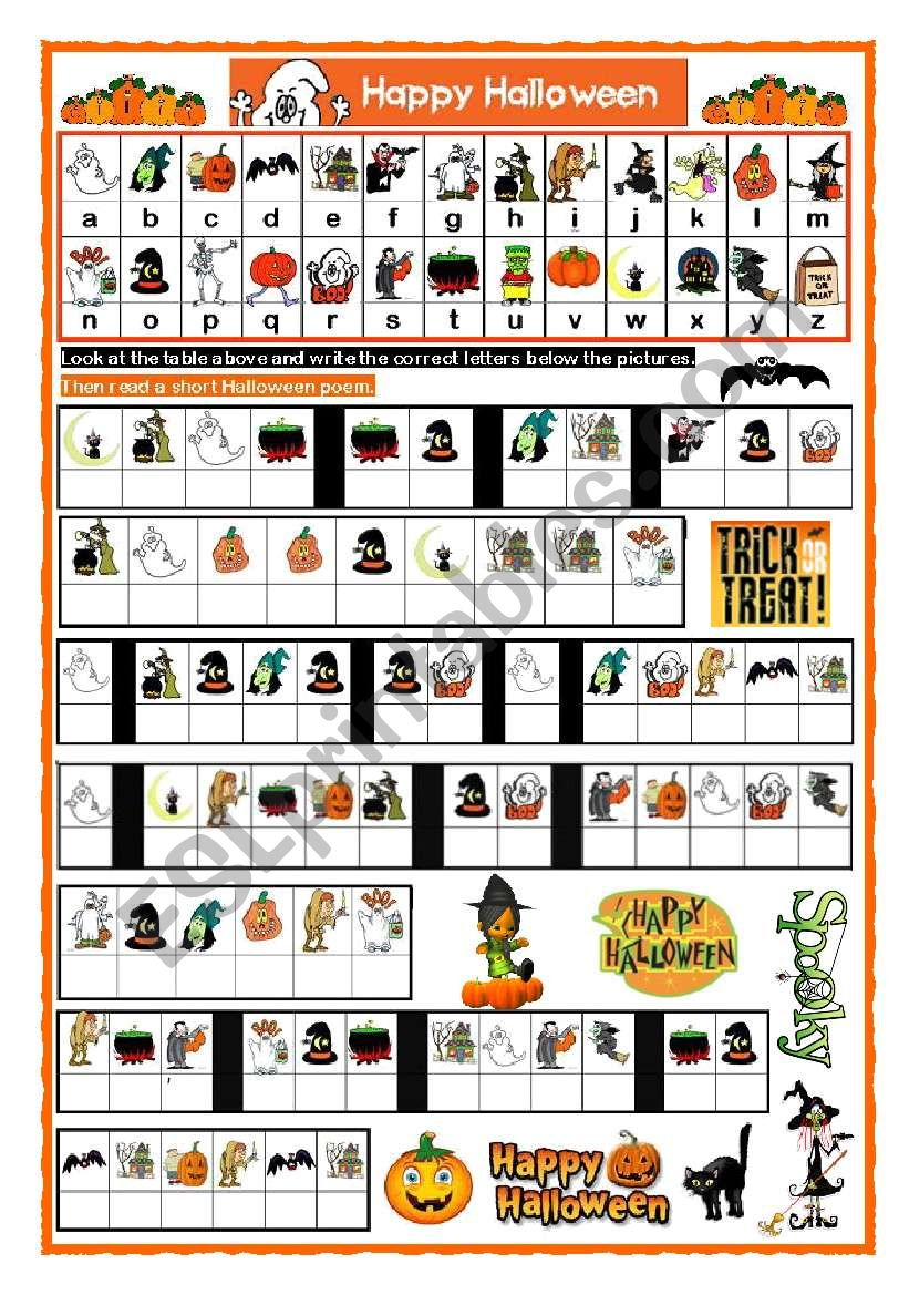 Halloween Cryptogram - Esl Worksheetjecika