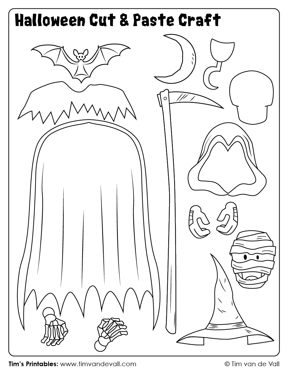 Halloween-Cut-And-Paste-Craft-06 - Tim's Printables
