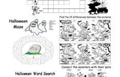 Halloween Worksheets For Esl Students