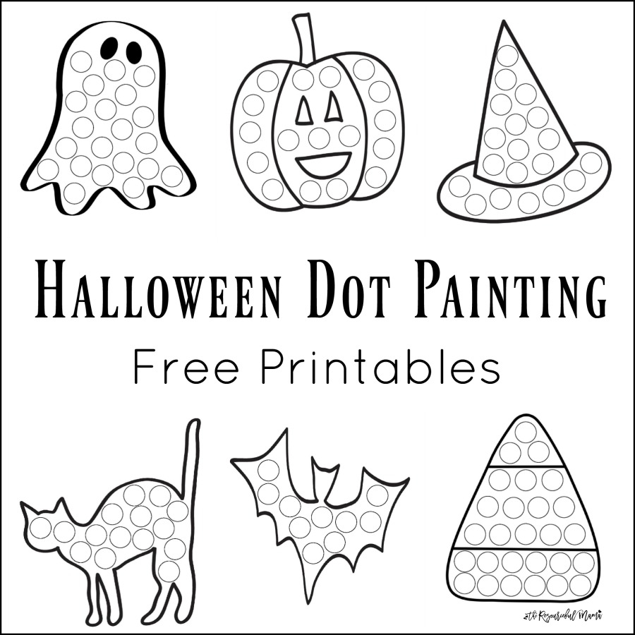 Halloween Dot Painting Featured Border Worksheets For Kids