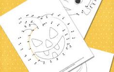 Halloween Dot It Worksheets