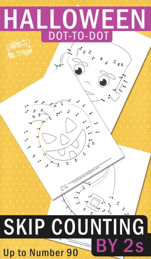 Halloween Dot To Dot Skip Counting Worksheets2S