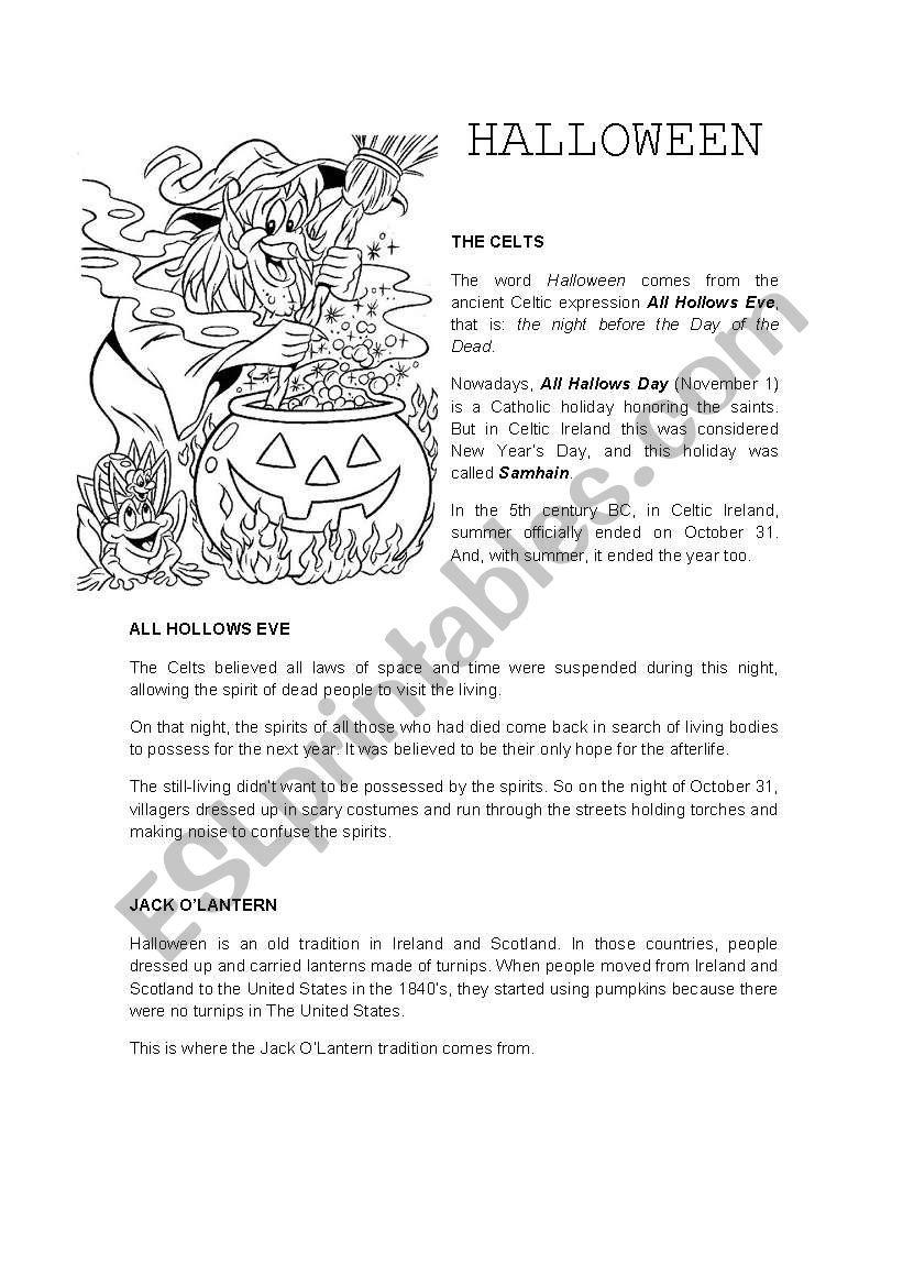 Halloween - Esl Worksheettonirichart