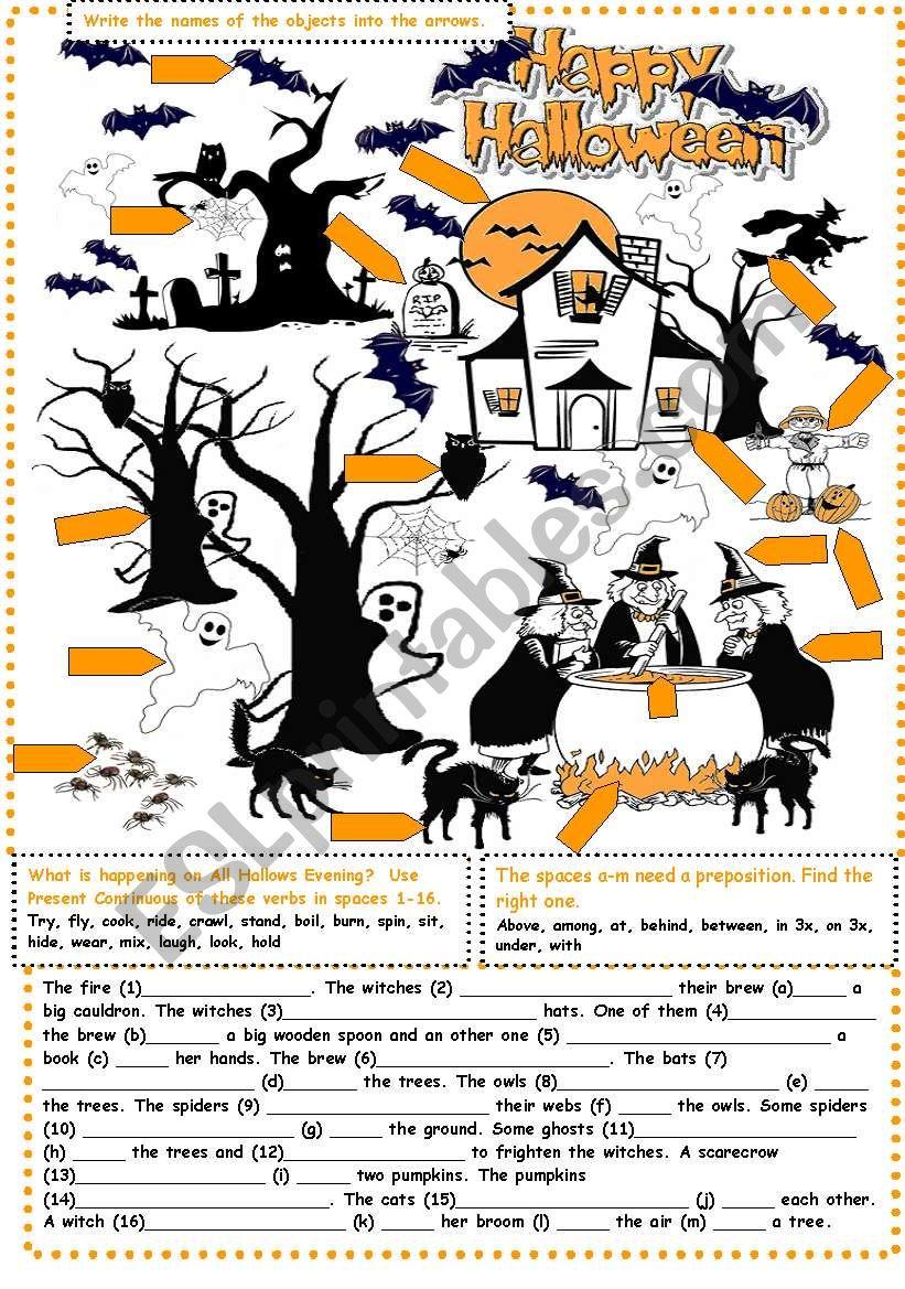 Halloween Exercises - Esl Worksheethtunde