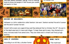 Halloween Facts – English Esl Worksheets | Halloween Facts