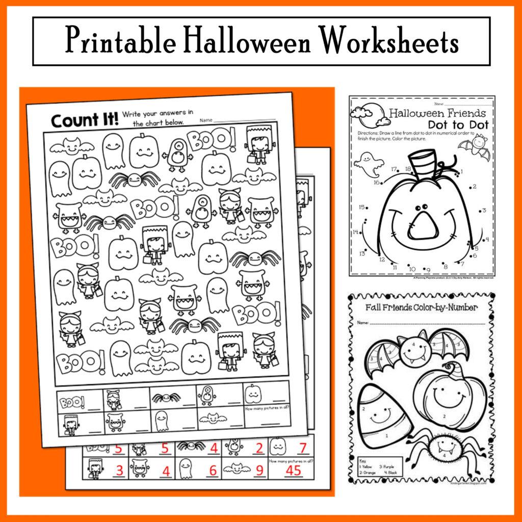 Halloween Freebie Activities, Count It And More