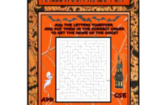 Halloween Fun Maze – English Esl Worksheets For Distance