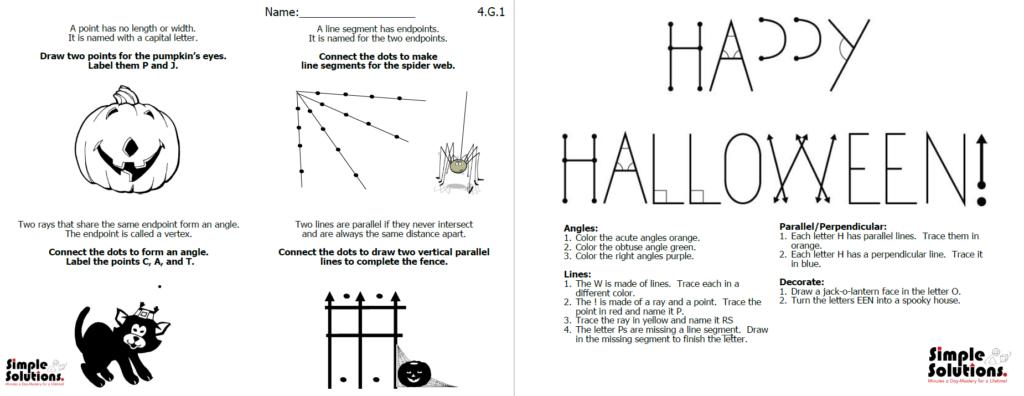 Halloween Geometry   Simple Solutions