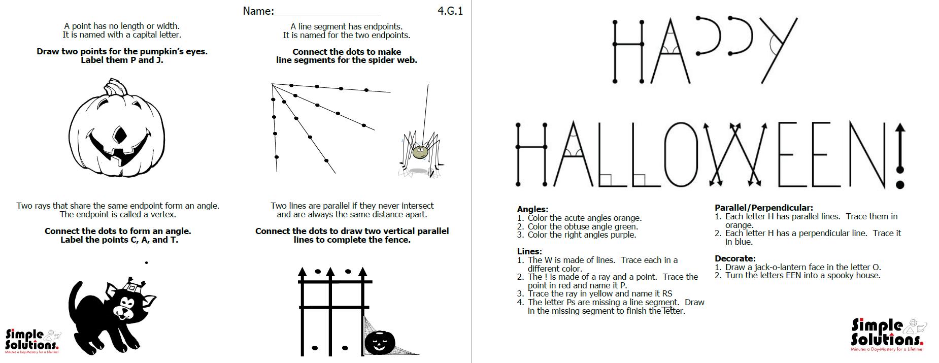 Halloween Geometry - Simple Solutions