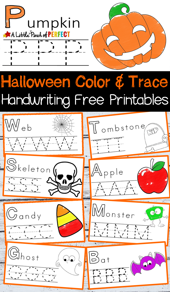 Halloween Handwriting And Coloring Free Printables -
