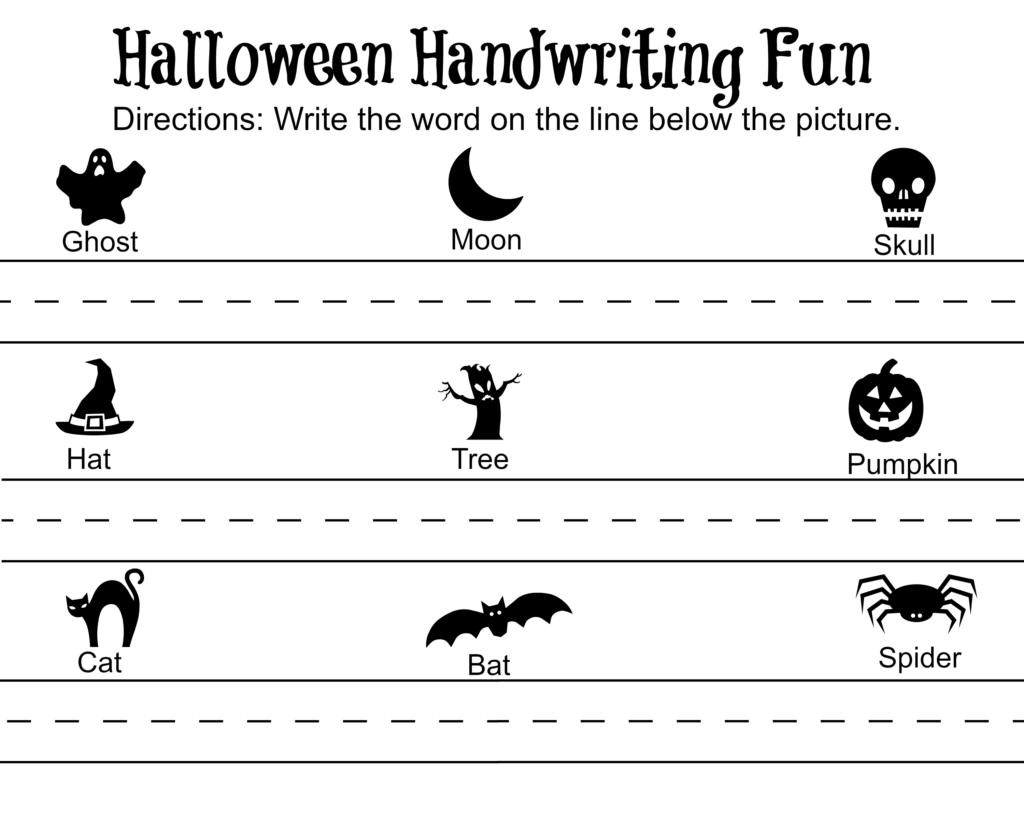 Halloween Handwriting Free Printable | Halloween Printables