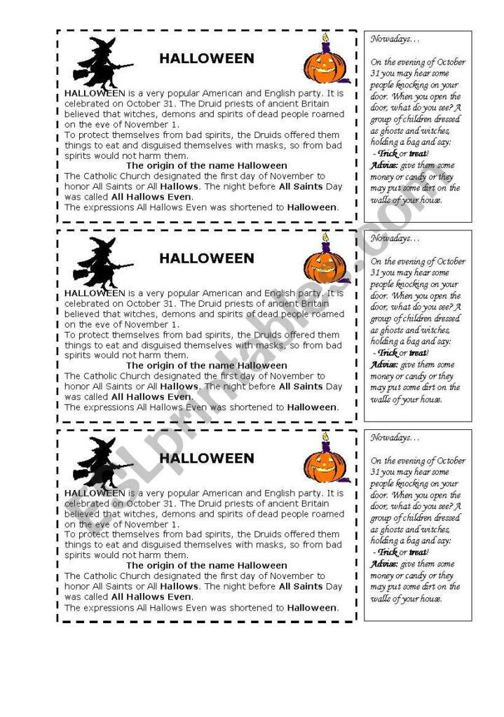 Halloween History   Esl Worksheetshintia