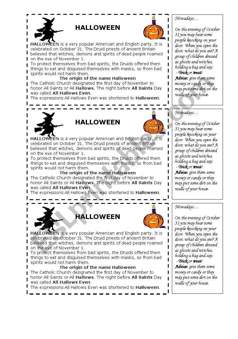 Halloween History - Esl Worksheetshintia