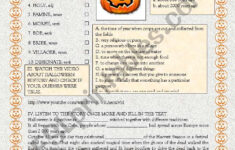 History Of Halloween Worksheet History Channel