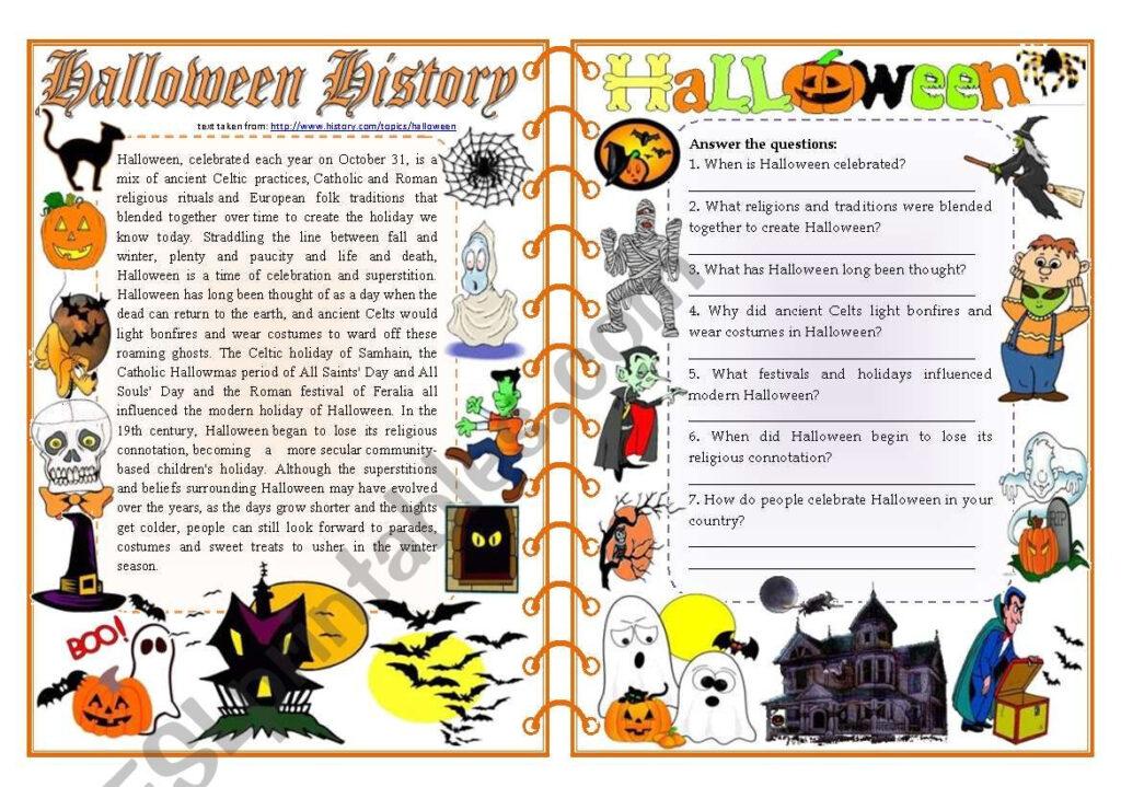 Halloween History   Reading Comprehension, Vocabulary