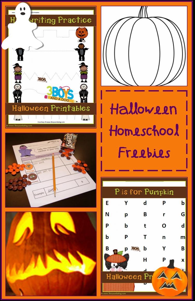 Halloween Homeschooling Freebiessubject!